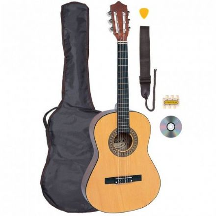 Palma 3/4 Nylon String Guitar Pack Natural